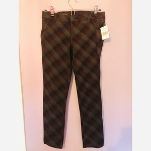 Kut from the kloth NWT plaid skinny pants